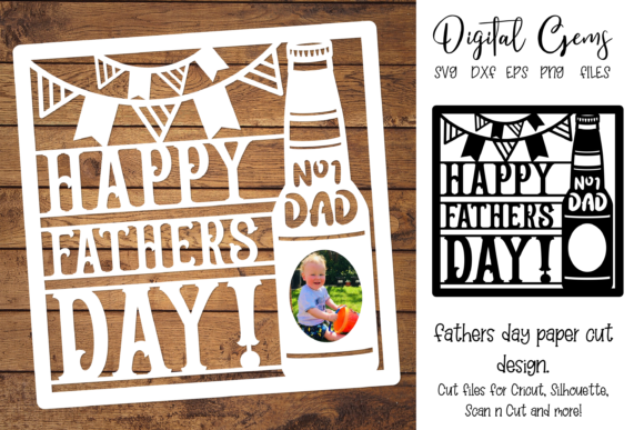 Father's Day Design Graphic Crafts By Digital Gems