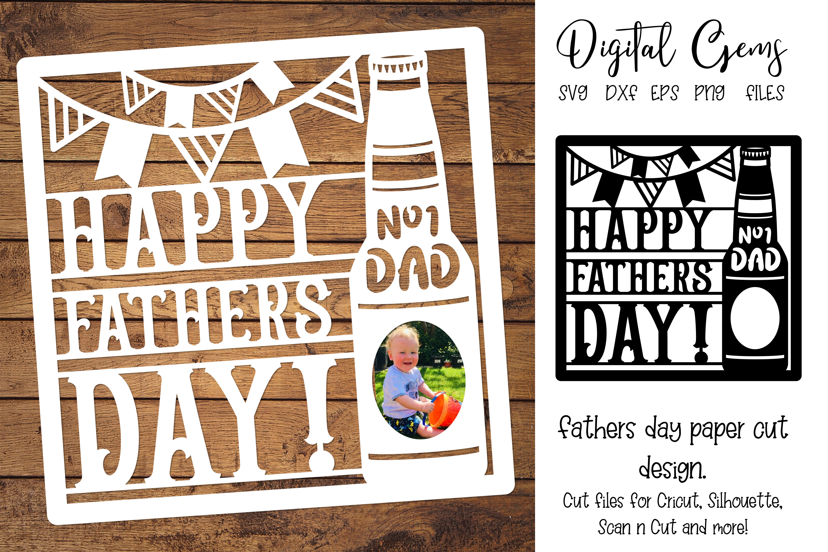 Download Free Father S Day Design Graphic By Digital Gems Creative Fabrica for Cricut Explore, Silhouette and other cutting machines.