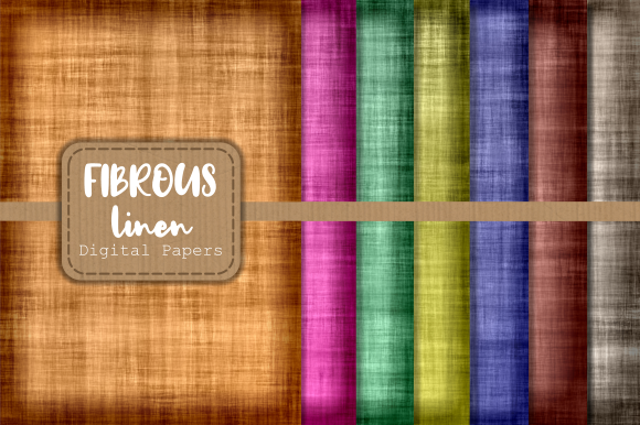 Print on Demand: Fibrous Linen Digital Textile Papers Graphic Backgrounds By Prawny