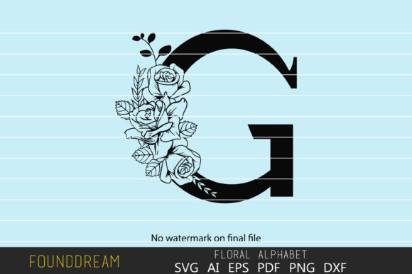 Floral Alphabet G Letter Graphic By Foundream Creative Fabrica