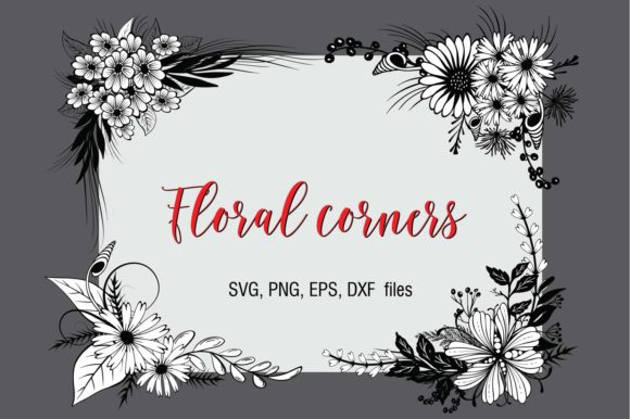 Print on Demand: Floral Corners Graphic Crafts By Eva Barabasne Olasz