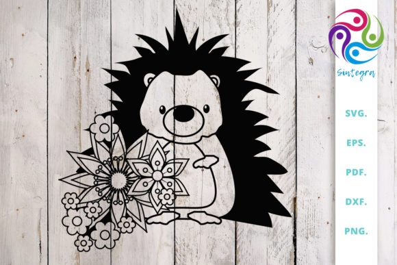 Download Free Floral Hedgehog Cut File Graphic By Sintegra Creative Fabrica for Cricut Explore, Silhouette and other cutting machines.