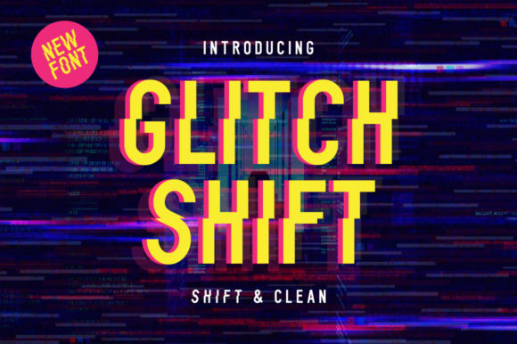 Print on Demand: Glitch Shift Display Font By VonTypeCo