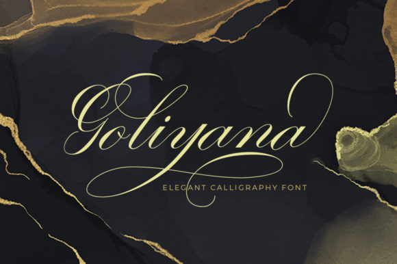 Print on Demand: Goliyana Script & Handwritten Font By Aqeela Studio