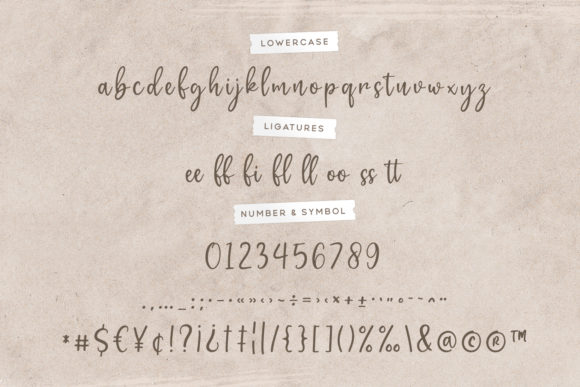 Print on Demand: Gratefully Script & Handwritten Font By Wandery Supply - Image 14