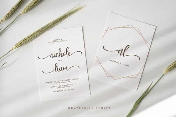 Print on Demand: Gratefully Script & Handwritten Font By Wandery Supply - Image 2