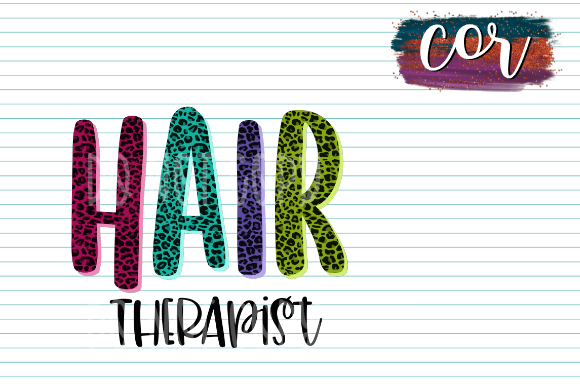 Print on Demand: Hair Therapist Graphic Crafts By designscor - Image 1