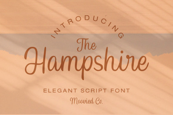 Print on Demand: Hampshire Script & Handwritten Font By Temp here - Image 1