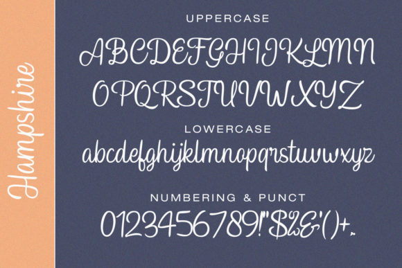 Print on Demand: Hampshire Script & Handwritten Font By Temp here - Image 10