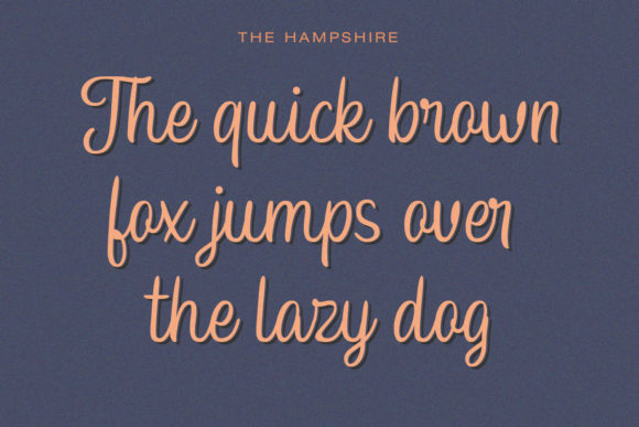 Print on Demand: Hampshire Script & Handwritten Font By Temp here - Image 2