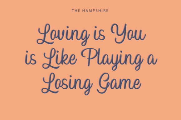 Print on Demand: Hampshire Script & Handwritten Font By Temp here - Image 4