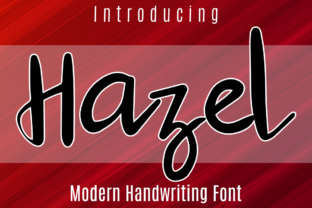 Print on Demand: Hazel Script & Handwritten Font By Patrick Design