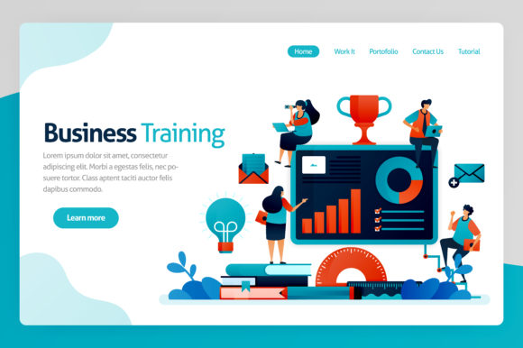 Print on Demand: Illustration for Business Training Graphic Graphic Templates By setiawanarief111