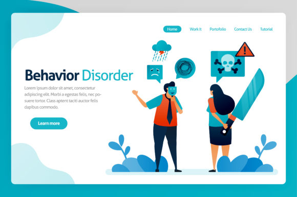 Print on Demand: Illustration of Behavior Disorder Graphic Graphic Templates By setiawanarief111
