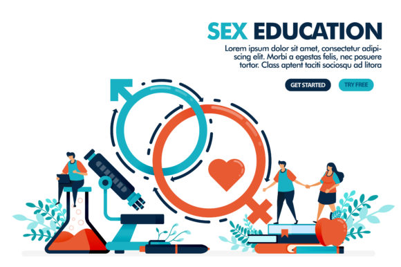 Download Free Illustration Of Studying Sex Education Graphic By for Cricut Explore, Silhouette and other cutting machines.
