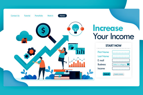 Download Free Increases In Income And Profit Graphic By Setiawanarief111 for Cricut Explore, Silhouette and other cutting machines.