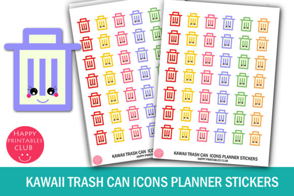 Download Free Rainbow Stars Icons Planner Stickers Graphic By Happy Printables for Cricut Explore, Silhouette and other cutting machines.