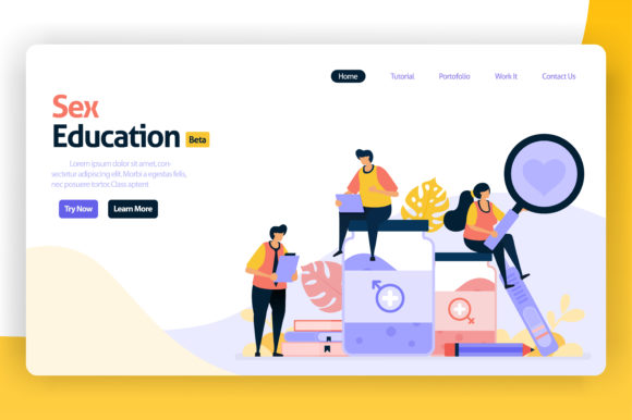 Download Free Landing Page For Sex Education Graphic By Setiawanarief111 for Cricut Explore, Silhouette and other cutting machines.