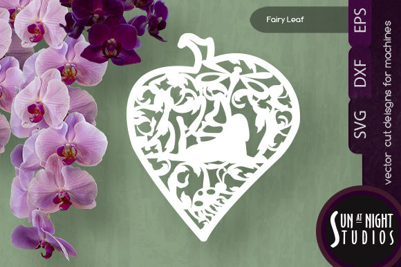 Download Free Leaf Fairy Vector Cut Graphic By Sun At Night Studios Creative for Cricut Explore, Silhouette and other cutting machines.