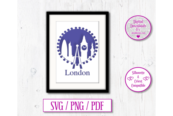 Download Free London City Paper Cut Graphic By Jumbleink Digital Downloads for Cricut Explore, Silhouette and other cutting machines.