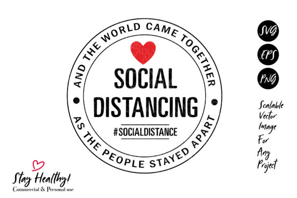 Print on Demand: Love Social Distancing Virus 6 Feet Graphic Illustrations By adlydigital