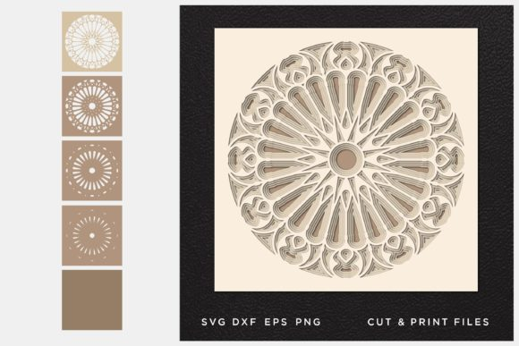 Mandala Cut File Graphic 3D SVG By 2dooart