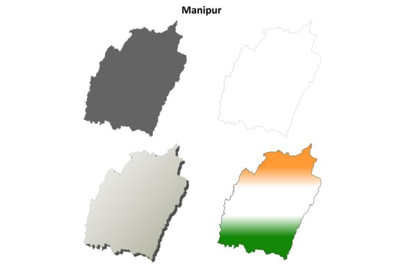 Download Free Manipur Outline Map Set Graphic By Davidzydd Creative Fabrica for Cricut Explore, Silhouette and other cutting machines.