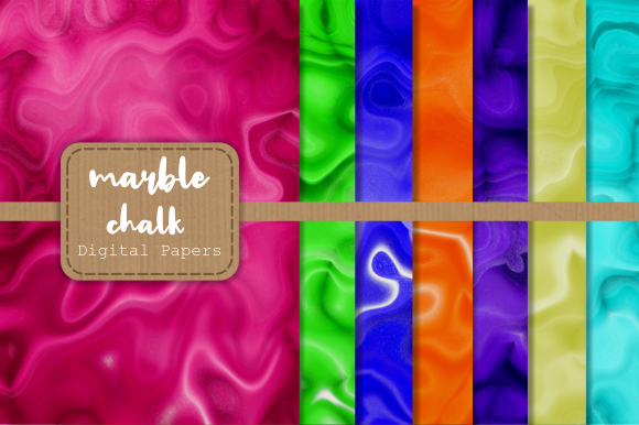 Print on Demand: Marbled Chalk Background Papers Graphic Backgrounds By Prawny