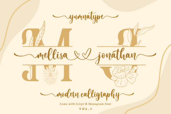 Print on Demand: Mellisa Jonathan Vol. 1 Script & Handwritten Font By Yumna_Type