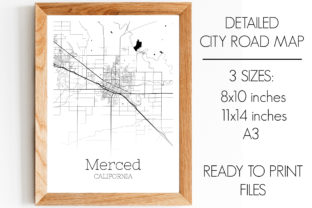 Print on Demand: Merced California City Map Graphic Photos By SVGExpress