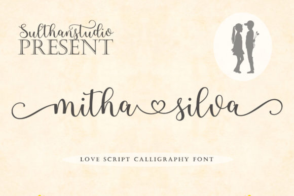 Print on Demand: Mitha Silva Script & Handwritten Font By Sulthan Studio