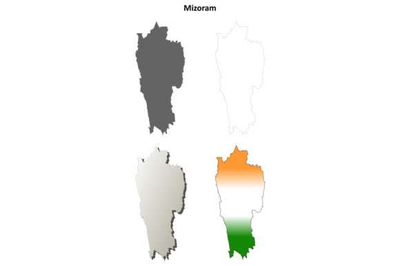 Download Free Mizoram Outline Map Set Graphic By Davidzydd Creative Fabrica for Cricut Explore, Silhouette and other cutting machines.