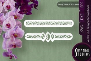 Modern Leafy Trims and Bracelet Vector Graphic Crafts By Sun At Night Studios