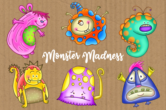Print on Demand: Monster Madness Set 2 Graphic Illustrations By Prawny