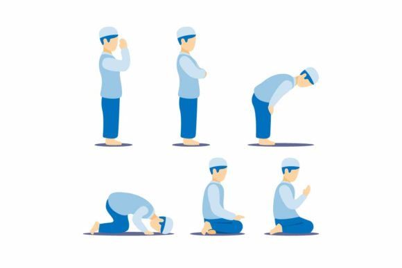 Download Free Muslim Man Praying Position Guide Set Graphic By Aryo Hadi for Cricut Explore, Silhouette and other cutting machines.