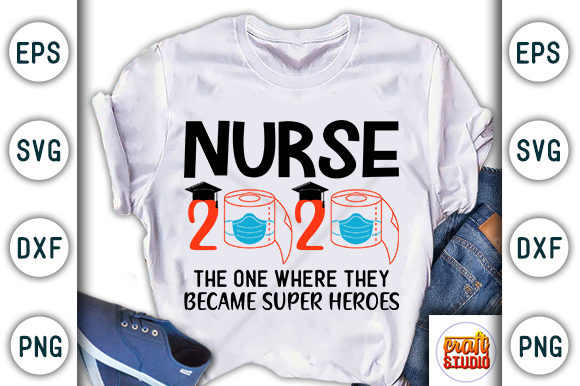 Download Free Nurse 2020 Craft Design Graphic By Craftstudio Creative Fabrica for Cricut Explore, Silhouette and other cutting machines.