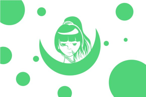 Download Free Occult Green Girl Graphic By Belangbiru Creative Fabrica for Cricut Explore, Silhouette and other cutting machines.
