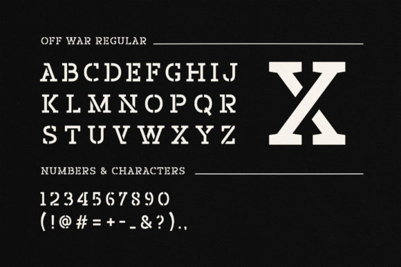 Download Free Off War Font By Liszarinzani Creative Fabrica for Cricut Explore, Silhouette and other cutting machines.
