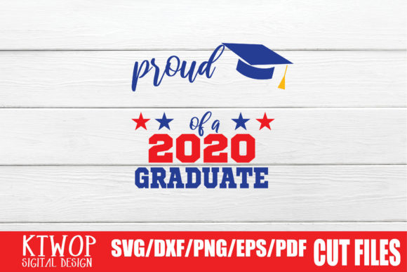 Print on Demand: Proud Your Text of a 2020 Graduate Graphic Crafts By KtwoP - Image 2