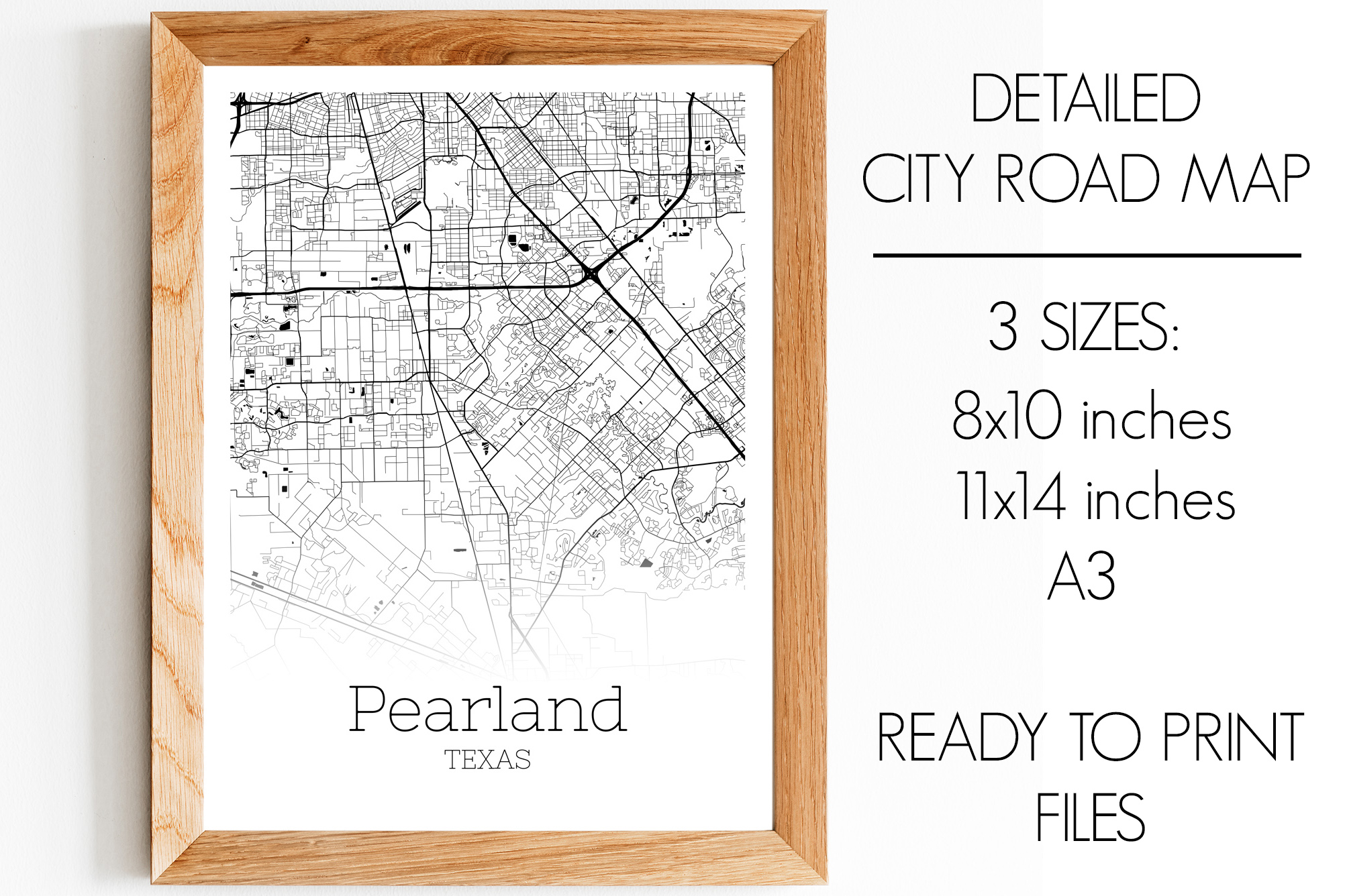 Download Free Pearland Texas City Map Graphic By Svgexpress Creative Fabrica for Cricut Explore, Silhouette and other cutting machines.