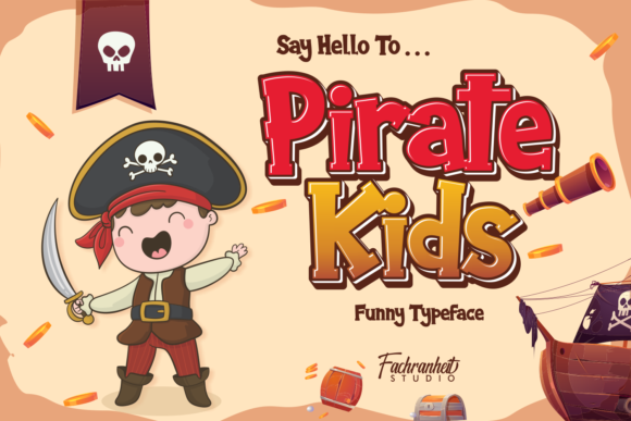 Print on Demand: Pirate Kids Display Font By fachranheit