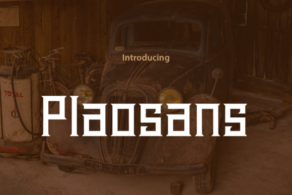 Download Free Plaosans Font By Da Only Aan Creative Fabrica for Cricut Explore, Silhouette and other cutting machines.