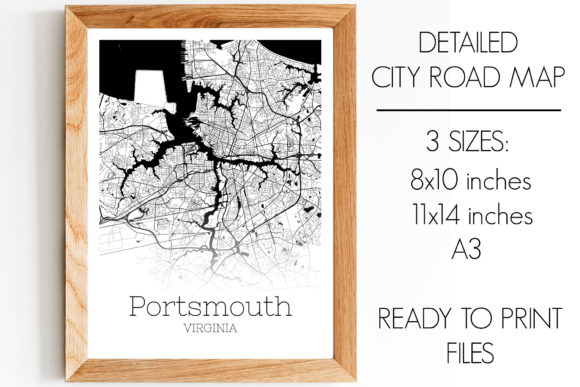 Download Free Portsmouth Virginia City Map Graphic By Svgexpress Creative for Cricut Explore, Silhouette and other cutting machines.