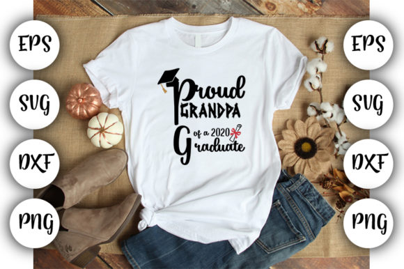 Download Free Proud Grandpa Of A 2020 Graduate Graphic By Design Store SVG Cut Files