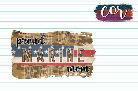 Print on Demand: Proud Marine Mom Graphic Crafts By designscor