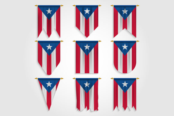 Download Free Puerto Rico Flag In Different Shapes Graphic By Medelwardi for Cricut Explore, Silhouette and other cutting machines.