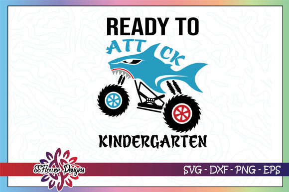 Download Free Ready To Attack Kindergarten Truck Graphic By Ssflower for Cricut Explore, Silhouette and other cutting machines.