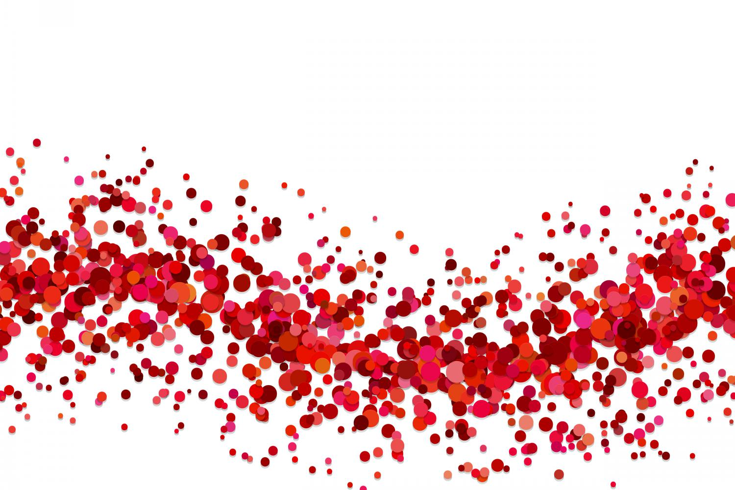 Download Free Red Confetti Background Graphic By Davidzydd Creative Fabrica for Cricut Explore, Silhouette and other cutting machines.