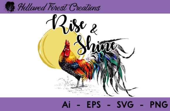 Rise & Shine Graphic Illustrations By hollowedforestcreations