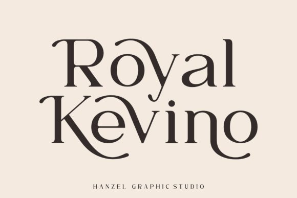 Print on Demand: Royal Kevino Serif Font By Hanzel Studio